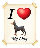 I love my dog — ストックベクタ