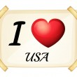 I love USA — Stock Vector #65413485