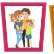 Family photos — Stock Vector #65413785