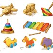 Wooden toys — Stock Vector #65413865