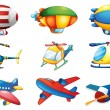 Planes and Balloons — Stock Vector #65414057