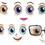 Women faces — Stock Vector #65414339