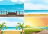 Beaches — Stock Vector