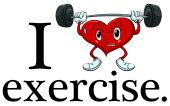 I love exercise — Stock Vector