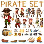 Pirate set — Stock Vector