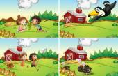 Farm scenes — Stock Vector