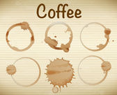 Coffee stains — Stock Vector