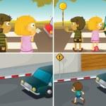 Road crossing — Stock Vector #66110933
