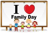 Día de la familia — Vector de stock