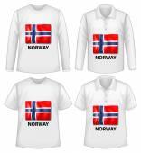 Norway shirt — Stock Vector