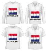 Netherland shirts — Stock Vector