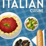 Italian food — Stock Vector #67128083