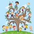 Children and tree — Stock Vector #67129015