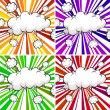 Clouds explosions — Stock Vector #67129911