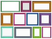 Different sizes for photo frames — Stock Vector
