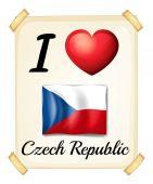 Jag älskar Tjeckien — Stockvektor