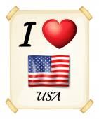 Ik hou van verenigde staten — Stockvector