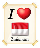 I love Indonesia — Stock Vector