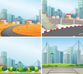 City scenes — Stock Vector