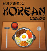 Korean food — Stock Vector
