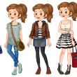 Hipster girl — Stock Vector #67585783