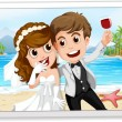 Wedding photo — Stock Vector #67586365