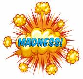 Madness — Stock Vector