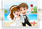 Wedding photo — Stock Vector