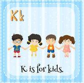 アルファベット k — ストックベクタ