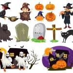 Halloween theme — Stock Vector #68670979