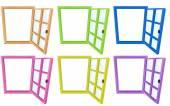 Window frames — Stock Vector