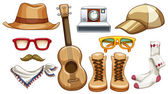 Hipster items — Stock Vector