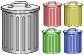 Trash cans — Stock Vector