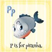 Alfabeto p — Vector de stock