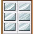 Classic wooden window — Stock Vector #69464177