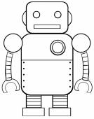 Square robot — Stock Vector