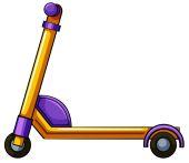 Orange kick scooter — Stock Vector