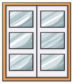 Classic wooden window — Stock Vector
