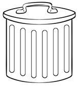 Trashcan — Stock Vector