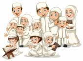 Muslim family — Stock Vector