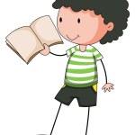 Boy reading — Stock Vector #72294873