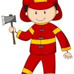 Fireman — Stock Vector #72294909