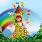 Fairies and castle — Wektor stockowy  #72294957