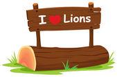 Mám rád lvi — Stock vektor