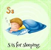 Schlafen — Stockvektor