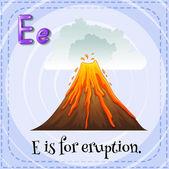 Eruption — Stock Vector