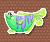 Green fish — Stock Vector