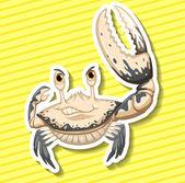 White crab — Stock Vector