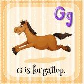 Gallop — Stock Vector