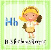 Housekeeper — Stock Vector